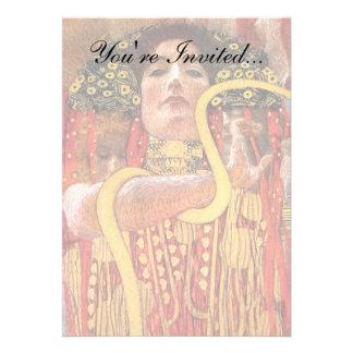 Gustav Klimt - Hygieia Medicine Personalized Invitations