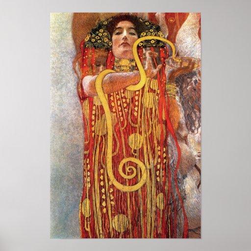 Gustav Klimt - Hygieia Medicine Poster   Zazzle