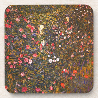 Gustav Klimt // Italenische Gartenlandschaft Beverage Coaster