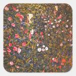 Gustav Klimt // Italenische Gartenlandschaft Square Sticker
