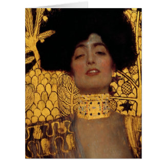 Gustav Klimt Judith And The Head Of Holofernes Large Greeting Card