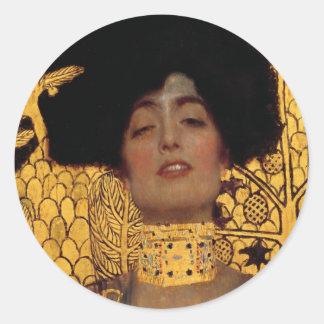 Gustav Klimt Judith And The Head Of Holofernes Classic Round Sticker