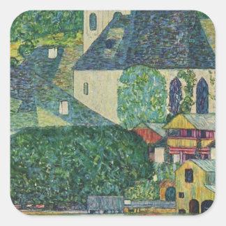 Gustav Klimt // Kirche in Unterach am Attersee Square Sticker