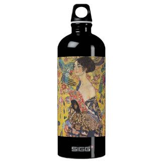 Gustav Klimt Lady With Fan Aluminum Water Bottle