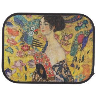 Gustav Klimt Lady With Fan Art Nouveau Painting Car Mat