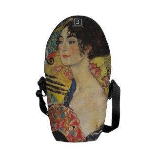 Gustav Klimt Lady With Fan Art Nouveau Painting Courier Bag