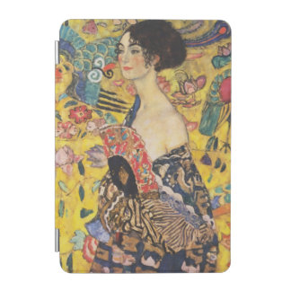 Gustav Klimt Lady With Fan Art Nouveau Painting iPad Mini Cover
