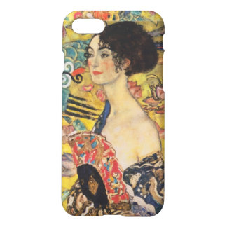 Gustav Klimt Lady With Fan Art Nouveau Painting iPhone 8/7 Case