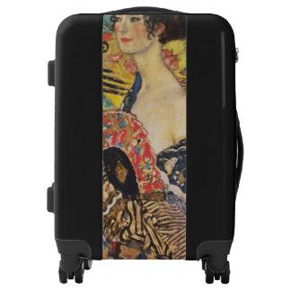 Gustav Klimt Lady With Fan Art Nouveau Painting Luggage