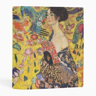 Gustav Klimt Lady With Fan Art Nouveau Painting Mini Binder