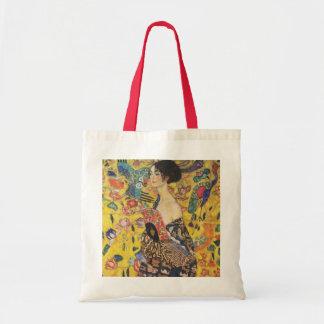 Gustav Klimt Lady With Fan Art Nouveau Painting Tote Bag