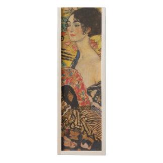 Gustav Klimt Lady With Fan Art Nouveau Painting Wooden Keepsake Box