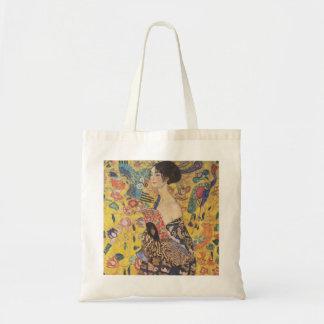 Gustav Klimt- Lady with Fan Canvas Bag