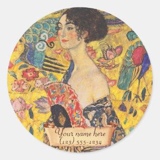 """Gustav Klimt """"Lady with fan"""" Bookplate"""