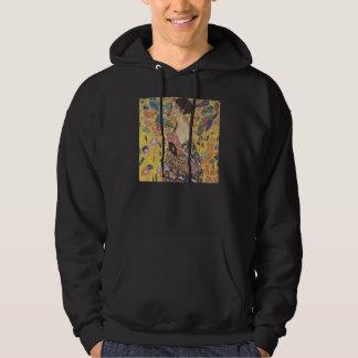 Gustav Klimt Lady With Fan Hoodie