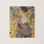 Gustav Klimt- Lady with Fan Jigsaw Puzzles