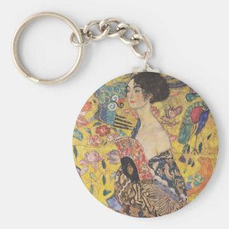 Gustav Klimt Lady With Fan Key Chain