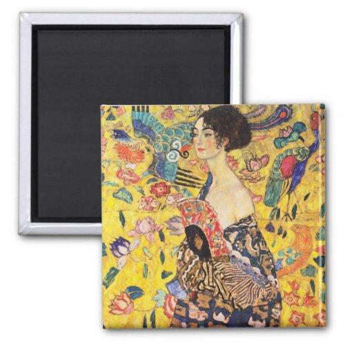 Gustav Klimt Lady With Fan Magnet