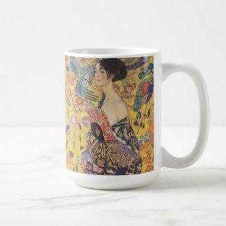 Gustav Klimt Lady With Fan Mug
