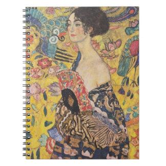 Gustav Klimt Lady With Fan Notebook