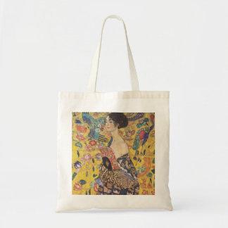 Gustav Klimt Lady With Fan Tote Bag