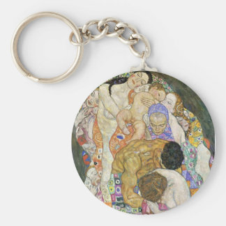 Gustav Klimt Life and Death Key Chain
