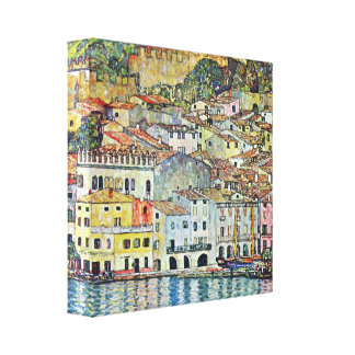 Gustav Klimt - Malcena at the Gardasee Canvas Print