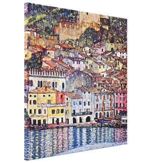 Gustav Klimt - Malcesine at Lake Garda Stretched Canvas Print