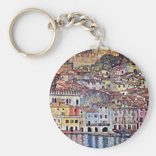 Gustav Klimt - Malcesine at Lake Garda Italy Keychain