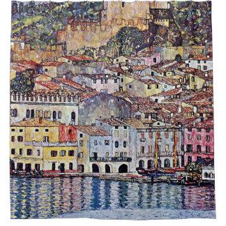 Gustav Klimt - Malcesine at Lake Garda Italy Shower Curtain