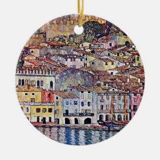 Gustav Klimt - Malcesine at Lake Garda Ornament
