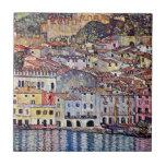 Gustav Klimt - Malcesine at Lake Garda Tiles