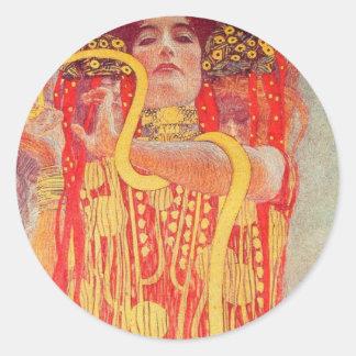 Gustav Klimt - Medizin Classic Round Sticker