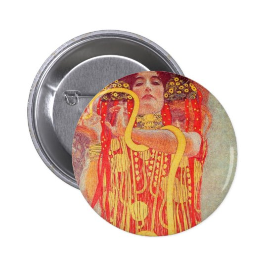 Gustav Klimt - Medizin Pinback Button