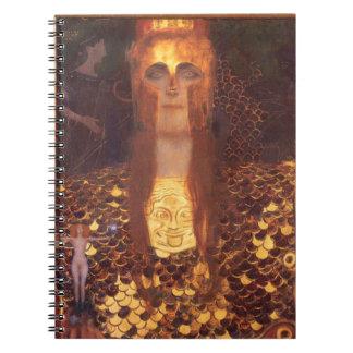 Gustav Klimt Minerva Pallas Athena Spiral Notebooks