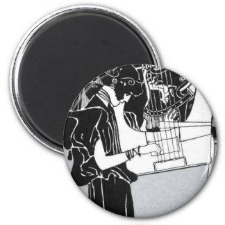 Gustav Klimt ~ Musik Fridge Magnet