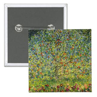 Gustav Klimt painting art nouveau The Apple Tree Pinback Buttons