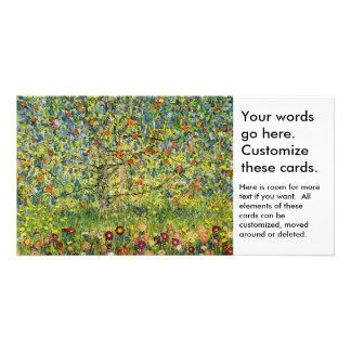 Gustav Klimt painting art nouveau The Apple Tree Card