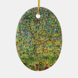 Gustav Klimt painting art nouveau The Apple Tree Ceramic Ornament