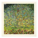 Gustav Klimt painting art nouveau The Apple Tree Custom Invitation
