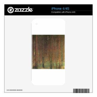 Gustav Klimt - Pine Forest Skins For iPhone 4