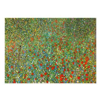Gustav Klimt Poppy Field Invitations