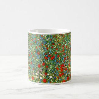 Gustav Klimt Poppy Field Mug