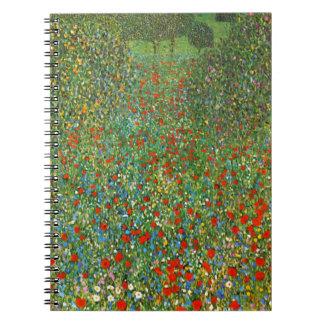 Gustav Klimt Poppy Field Notebook