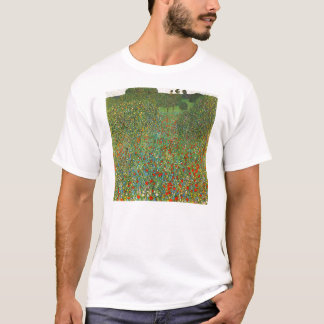 Gustav Klimt Poppy Field T-shirt