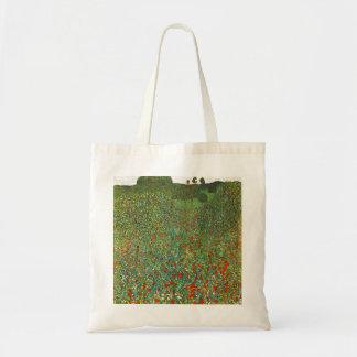 Gustav Klimt Poppy Field Tote Bag