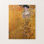 """Gustav Klimt Portrait Jigsaw Puzzle<br><div class=""""desc"""">This popular Klimt painting is entitled &quot;Adele Bloch-Bauer&#39;s Portrait&quot; and was painted in 1907. Gustav Klimt (July 14, 1862 – February 6, 1918) was an Austrian symbolist painter and one of the most prominent members of the Vienna Secession movement. Klimt is noted for his paintings, murals, sketches, and other objets...</div>"""