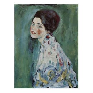 Gustav Klimt - Portrait of a Lady Painting Postcard