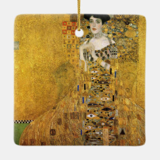 GUSTAV KLIMT - Portrait of Adele Bloch-Bauer 1907 Ceramic Ornament