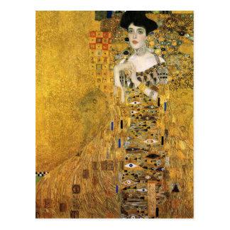 GUSTAV KLIMT - Portrait of Adele Bloch-Bauer 1907 Postcard